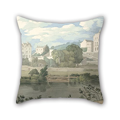 20-x-20-inches-50-by-50-cm-oil-painting-francis-towne-houses-near-plymouth-pillow-cases-both-sides-o