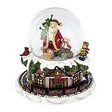 Formano Schneekugel-Spieluhr 'Weihnachtszeit', 16 cm, bunt