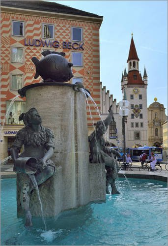 reproduction-sur-toile-40-x-60-cm-fish-fountain-marien-square-munich-bavaria-de-fine-art-images-repr