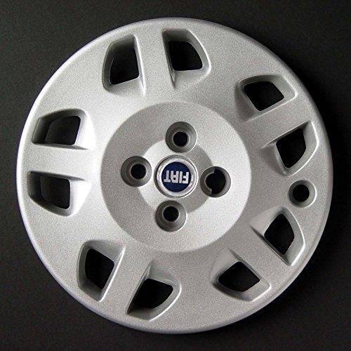 Jeu de 4 Enjoliveurs Neuf pour Fiat Punto 2 1999> avec Roues Originales en 14 Pouces