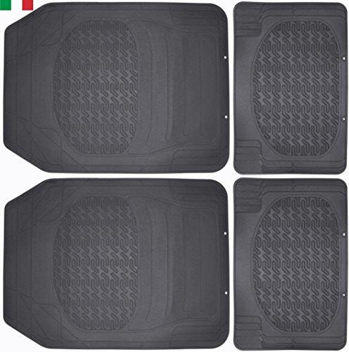 Cenni 25291 Alfombrillas de Goma para Coche, Recortables, Universales, Set de 4 Unidades, Made in Italy