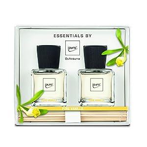 ipuro ESSENTIALS Geschenkset Raumduft pure vanilla, 1er Pack (2 x 50 ml)