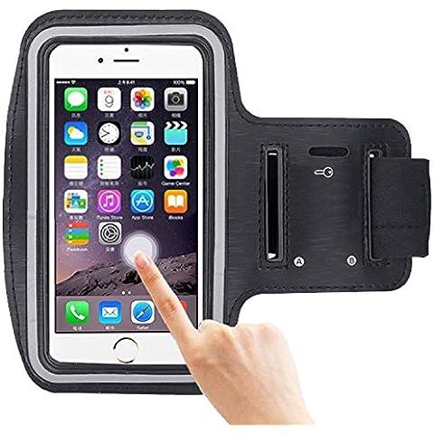 COOSA Smartphone brazal de los deportes y la titular de la clave para Apple Iphone 6 Plus y otros similares Tamaño teléfonos inteligentes, con la correa de velcro ajustable para correr, caminar, ciclismo, Una Buena Condición, etc.
