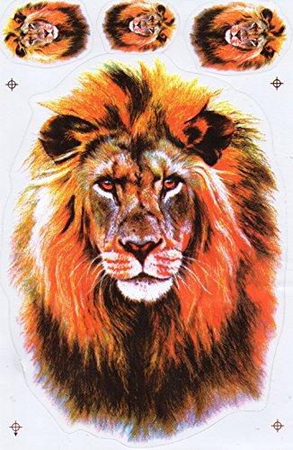 Löwe Mähne Sticker Aufkleber Folie 1 Blatt 270 mm x 180 mm wetterfest