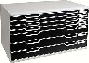 Multiform 323014D Büroboxen Modulo System 2 A3 schwarz