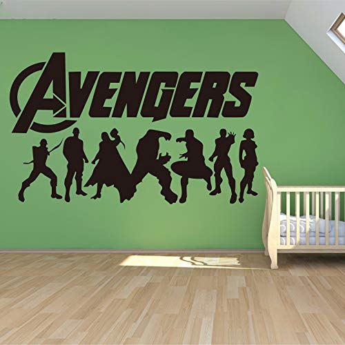 ljradj Pegatinas de Pared para Habitaciones de niños Decoración del hogar Hombre Avengers 2 y Capitán América Chico Dormitorio Sala de Estar Pegatinas de Pared 90 cm x 58 cm