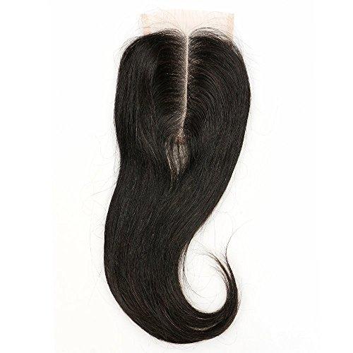 blisshair 7 Une partie Cheveux indiens vierges 100% humains milieu Body Wave/Droite en dentelle fermeture 3,5 x 4