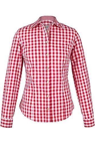 Almsach Damen Trachten-Bluse rot-weiß kariert 'Maria', rot,