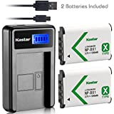 Kastar Camera Batteries (Pack Of 2) With LCD Slim USB Charger For Sony NP-BX1 And Cyber-shot DSC-HX50V HX300 RX1 RX1R RX100 RX100 II RX100M II RX100 III RX100M3 WX300