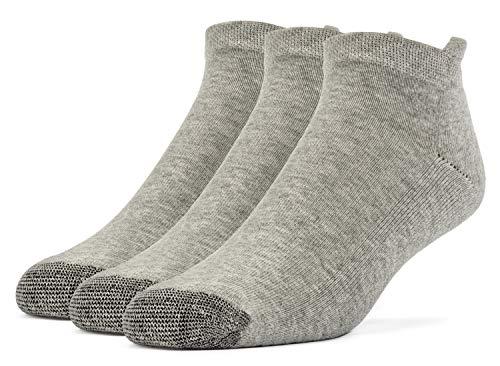 Galiva Damen Socken, Sportsocken, gepolsterte extra weiche, Baumwoll Laufsocken - 3 Paar, Mittelgroß, Grau