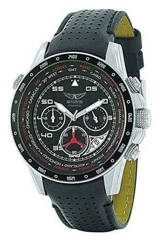 Aviator F-Series AVW7770G59 - Orologio cronografo da uomo, quadrante nero,...