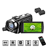 Camcorder Videokamera HD 1080P 24MP Video Camcorder, 16X Digitalzoom Kamera, 3,0 Zoll LCD Bildschirm, vlogging...