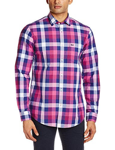 Arrow Sports Men's Casual Shirt  (8907259293479_ASQS3261_42_Dark Pink)  available at amazon for Rs.809