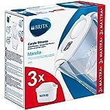 BRITA, Carafe Filtrante, Marella, 2.4L, 3 Cartouches Filtrantes MAXTRA+ incluses Blanc