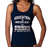 Coto7 Education is Important But Destroying The Death Star is Importantest Women's Vest