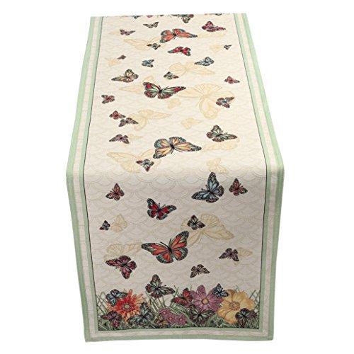 Tischläufer Tisch Emily Home Butterfly aus Gobelin (verschiedene Größen) 45x140 cm -