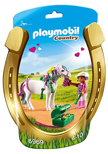 Playmobil 6969 Collectable Groomer with Heart Pony