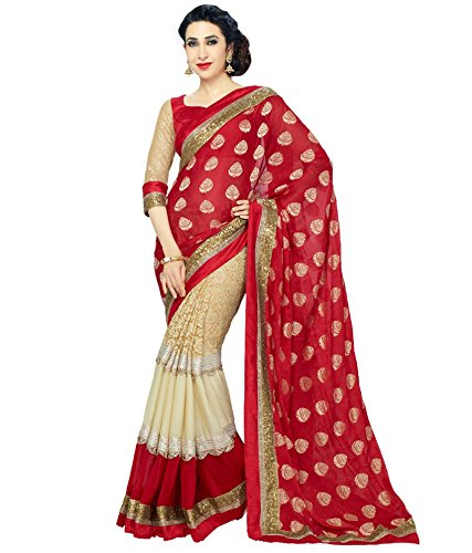 Dreamset Maroon Colour Indian Designer Branded saree Wth Unstitched Blouse Piece