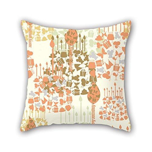 niceplw feliz cumpleaños fundas de almohada de 20x 20pulgadas/50por 50cm para diván,...