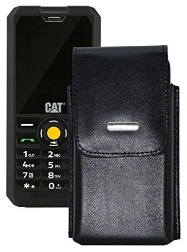Vertikal Etui für / Caterpillar CAT B30 / Köcher Tasche Hülle Ledertasche Vertical Case Handytasche mit einer Gürtelschlaufe auf der Rückseite