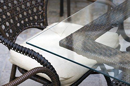 MySpiegel.de Glasplatte Tisch Glastisch Tischplatte Glas Zuschnitt 8mm 90x55 cm Glasplatten nach Maß Klar Durchsichtig Glasscheibe