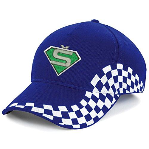 Skoda Superman Bestickte Grand Baseball Cap Mütze -1026Blau