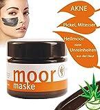MOOR Maske Gesicht   Heilmoor gegen Mitesser Pickel Akne Falten   Anti Aging Mask   Gesichtsmaske schwarz mit BIO Aloe Vera gegen unreine Haut, fettige Haut 100% Natural für Männer und...