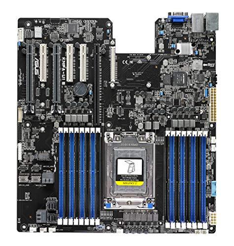 ASUS KNPA-U16 Socket SP3 DDR4 M.2 EEB Server Motherboard für AMD EPYC 7000 Serie mit OCulink NVMe, Dual Gigabit LAN, USB 3.0 und 12 SATA3 Ports -