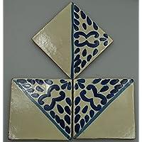 Talavera messicano per piastrelle in ceramica, dipinta a mano, in piastrelle ref.R46 Terracotta messicana, 10,5 (Ceramica Talavera)