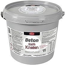 "Knetbeton ""1,5kg o. 5kg"" im wiederverschließbarem Eimer lufttrocknend Knetmasse modellieren Betonbasteln Beton"