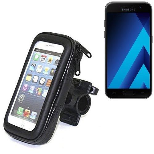 Fahrradhalterung für Samsung Galaxy A3 (2017), Handyhalterung Lenkstange Fahrrad Halter Motorrad Bike mount Smartphone Halter Wasserabweisend, regensicher, spritzwasserdicht