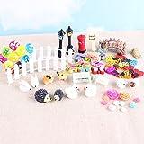 58 Stück Miniatur Ornament Set Fairy Garten Micro Landschaft Puppenhaus Dekoration Mini-Handwerk