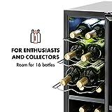 Klarstein Bellevin • Weinkühlschrank • Getränkekühlschrank • 45 Liter • 16 Flaschen • 2 Zonen • doppelt isoliert • 6 Metalleinschübe • LCD-Display • Touch-Bediensektion • freistehend • niedriges Betriebsgeräusch • höhenverstellbare Standfüße • schwarz - 4