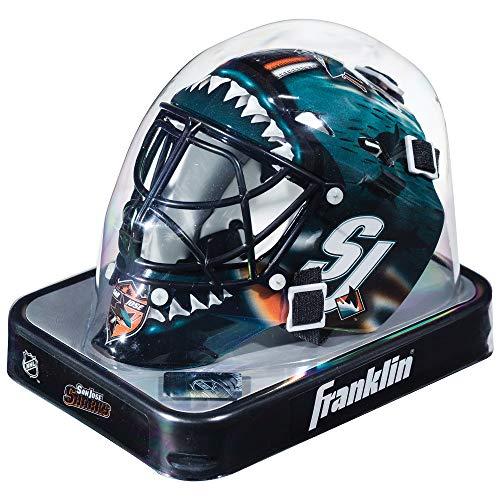 Franklin Sports Eishockey-Sammelartikel Torwart-Helm Mini, Design: Logo Einer NHL-Mannschaft, Unisex, 7784F24, Schwarz