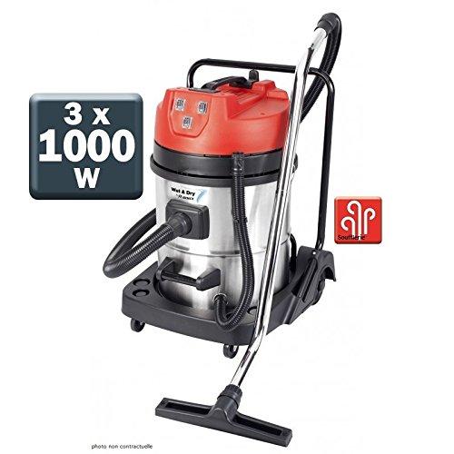 Aspirateur eau et poussières en inox 3000W 80L - PRASP80LX3