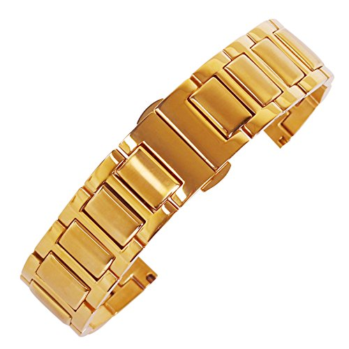 nd 20mm Uhrenarmband milanese Uhr für Männer Gurt Gold Uhrenarmband Metallgewebe Uhrenarmband Uhrenarmband Uhrgurt Uhrenarmband ()