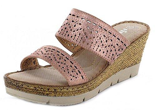 Quick-Schuh 1004797, Zoccoli donna Pink