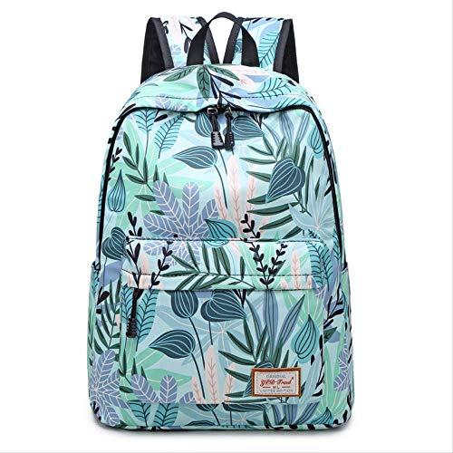 Green Maple Leaf (DXQY Rucksack Damen Tasche Mode Neu Druck Edgy Bag College StyleGreen Maple Leaf)