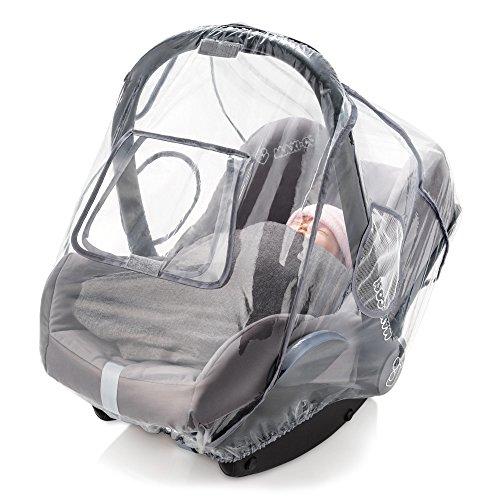 Imagen para Zamboo Protector de lluvia Grupo 0+ (se adapta a Maxi-Cosi / Cybex / Römer) - Burbuja de lluvia con ventana frontal, buena circulación del aire, apertura para el asa, sin PVC