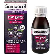Sambucol Natural Black Elderberry for Kids with Vitamin C, 120ml