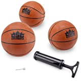 Crown Sporting Goods Mini Basketball with Needle and Inflation Pump (Set of 3), 5-Inch - Crown Sporting Goods - amazon.co.uk