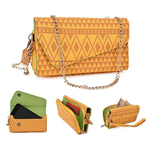 Kroo Pochette/étui style tribal urbain pour Xolo A510s/A500Club Multicolore - Brun Multicolore - jaune