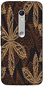 Snoogg Seamless Texture With Flowers And Butterflies Endless Floral Pattern Designer Protective Back Case Cover For Motorola Moto X Style
