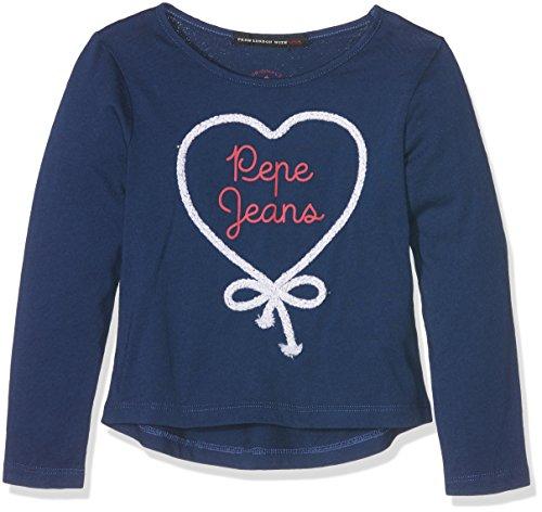 pepe-jeans-jules-kids-t-shirt-fille-bleu-sailor-fr-6-ans-taille-fabricant-6-ans