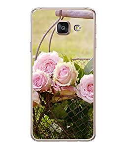 FUSON Designer Back Case Cover for Samsung Galaxy A5 (6) 2016 :: Samsung Galaxy A5 2016 Duos :: Samsung Galaxy A5 2016 A510F A510M A510Fd A5100 A510Y :: Samsung Galaxy A5 A510 2016 Edition (White Rose Flowers Phool Pushp Art )