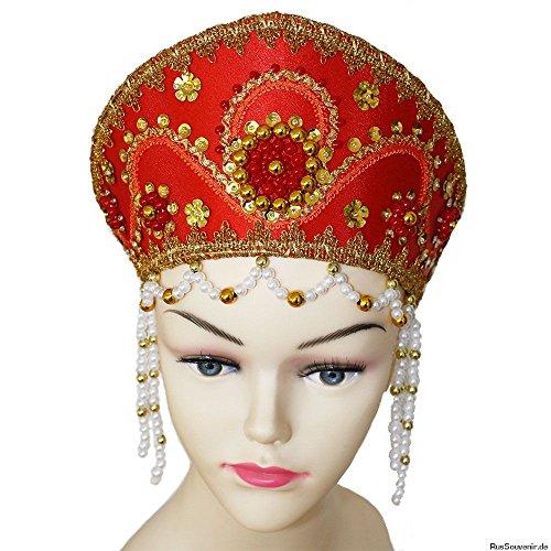 Kokoschnik, russischer Kopfschmuck 'Alina' (Russische Kostüm Ideen)