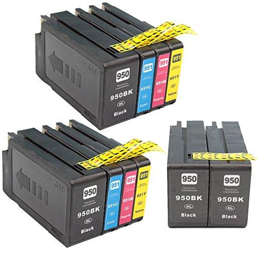 Ink & Toner Family 10 piezas Reemplazo HP 950XL 951XL