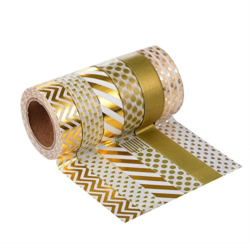 Washi Tape Masking tape Dekoband, 6er Pack (Farben-Set4)