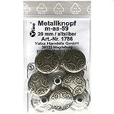 8 Metall Knöpfe altsilber 20 mm