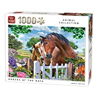 King 5388 Horses At The Gate Puzzle 1000-Piece, 49 x 68 cm